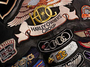 Badges that can be won in the Harley-Davidson brand community