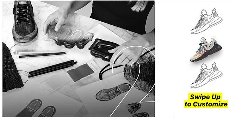 Nike by you allows loyal customers to design their own pair of Nike sneakers.