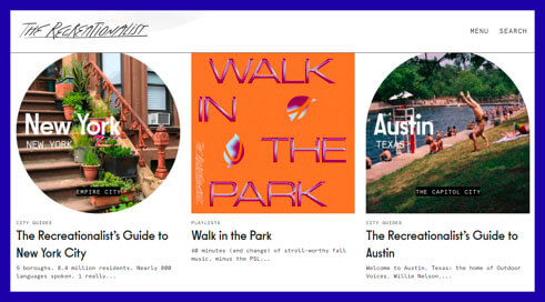 Outdoor Voices generates content to nurture its brand community like magazines, guides and playlists