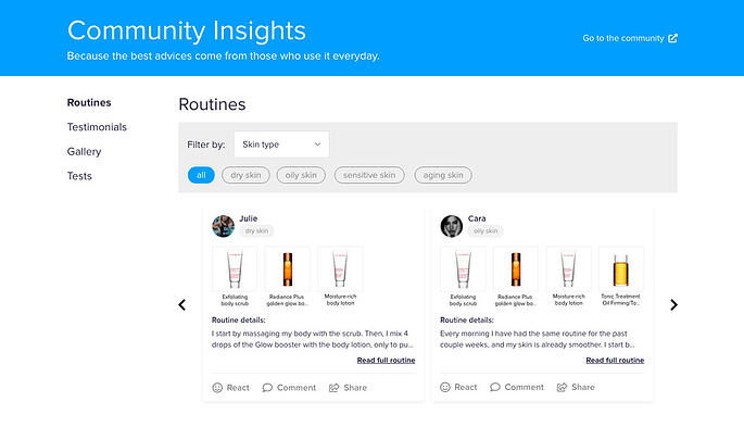 Trend for brands and community in 2021: community UGC on online stores and product pages