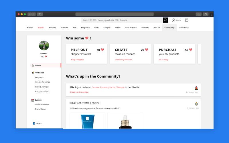 Visuel d'une plateforme communautaires et événements clients disponibles sur la plateforme TokyWoky